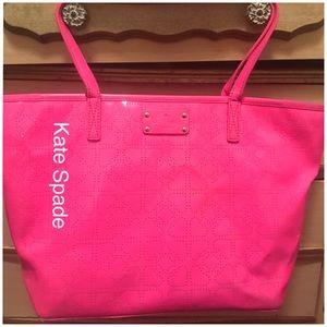 Kaye Spade Hot Pink Metro Tote 💕Firm Steal Deal
